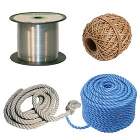Vázací dráty, provazy