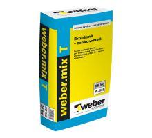 weber.mix T, 25kg, 10MPa - tenkovrstvá malta pro lepení zdiva z broušených cihel, tl. vrstvy 1mm