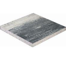 Zahradní dlaždice, plošná, 40x40x5 cm, bíločerná, Semmelrock