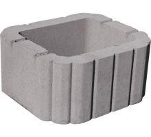 Miniflor, zaoblená svahovka, 14x26x29,5 cm, šedá, Semmelrock