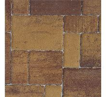 Rhodos Elegant, zvlněná dlažba, 3 kameny, výška 6 cm, triomix podzim, Semmelrock