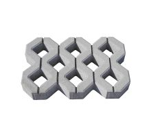 Betonová zatravňovací dlažba Semmelrock ZT1 10 x 40 x 60 cm šedá přírodní