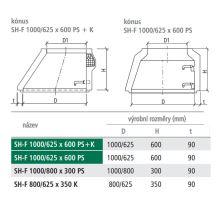 Konus kanalizační SH-F 100/62,5x60x9 cm PS Best