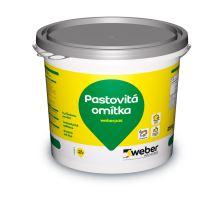 weber.pas silikon brush, 25 kg - probarvená pastovitá omítka vytvářející imitaci textury dřeva na fasádě
