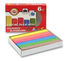 Křída barevná školní sada 6 ks/6 barev