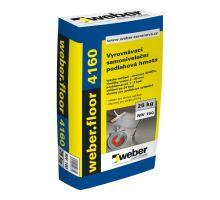 weber. floor 4160 30 MPa, 25 kg - samonivelační cementová stěrka pro tl. vrstvy 2-30mm, pochozí po 2 hod.