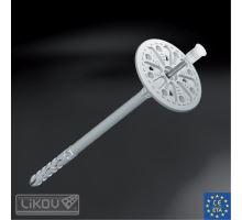 Fasádní talířová hmoždinka LMX 8x175 s kovovým trnem