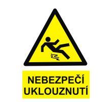 BOZP tabulka - Nebezpečí uklouznutí! - Pevi