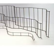 Ocelová distanční podložka UTH k fixaci rozteče výztuže, výška 8cm