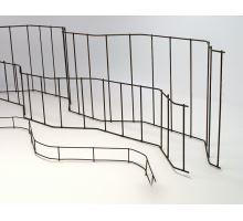 Ocelová distanční podložka UTH výška 8cm prům. 3mm, délka 2m, fixace rozteče výztuže