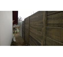 DITON Plotový systém Tvář dřeva sloupek T profil natur patina 292x13x13 cm