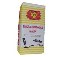 Tomeš Zdící a omítková malta 1mm, 2,5MPa, 25kg - univerzální zdicí malta, pro interiér/exteriér, zrno 1mm