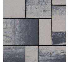 Semmelrock Citytop kombi Elegant, dlažba, 3 kameny, výška 6 cm, bíločerná, Semmelrock