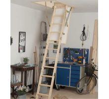 DOLLE půdní skládací schody Kompakt, dřevěný žebřík, rozměr 70x120 cm, výška stropu do 285 cm