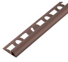 Ukončovací PVC lišta s příčkou zaoblená tmavě šedá 2,5 m 6 mm