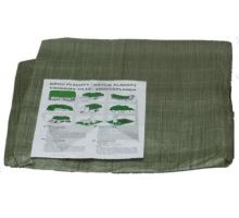 Plachta s oky na dřevo 2x10m, zelená silná Toptrade