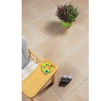 Betonová plošná dlaždice Best Terasová Rigolo reliéfní 40 x 40 4 cm krémová