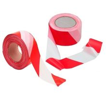 Páska výstražná červeno-bílá 75mmx100m, Blue Dolphin Tapes