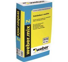 weber.mix Z, 25kg, 10MPa - zakládací malta pro zdivo z broušených cihel, tl. vrstvy 10-40mm