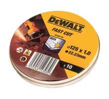 Kotouč řezný na kov 125x1,0 mm, DT3507-QZ bal.10ks, prodejní Box DeWalt