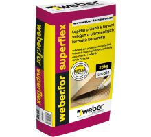 weber.for superflex C2TE S2, 25 kg - flexibilní lepidlo pro velké a ultratenké formáty keramiky