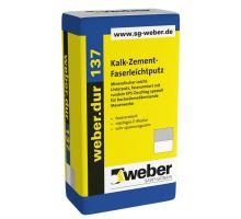 weber.dur 137, 30kg,  λ= 0,51W/mK  - strojní/ruční lehčená tepelně-izolační jádrová omítka, pro exteriér/interiér, tl. vrstvy 10-20mm