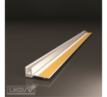 Lišta okenní začišťovací bílá - APU lišta, š.6mm, d.2,4m