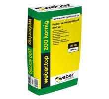 weber.top 200 aquabalance, 30 kg - probarvená škrábaná omítka hrubozrnná
