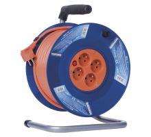 Kabel prodlužovací buben 50m 4 zásuvky IP44 gumový P19450