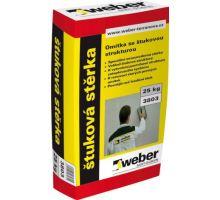 weber.dur stěrka B, 25kg - vnitřní/vnější bílá cementová štuková stěrka, zrno 0,6mm, tl. vrstvy do 1,5mm