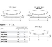 Zákrytová deska (poklop celistvý) studniční TZN-Q 625/C Best