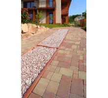 BEST Parkan II Zahradní obrubník 5x20x100cm, červený