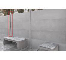 Plotový systém Modern sloupek průběžný Natur šedá 10 x 10 x 272 cm