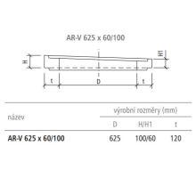 Vyrovnávací prstenec kanalizační AR-V 62,5x6-10x12 cm Best
