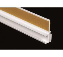 Lišta okenní začišťovací s jazýčkem bílá - APU lišta, š.9mm, d.2,5m