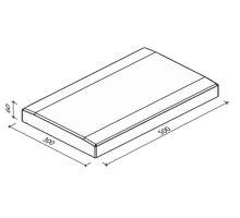 Zákrytová stříška ZS plotovka, univerzální, hladká, 50x30x6 cm, přírodní, Diton