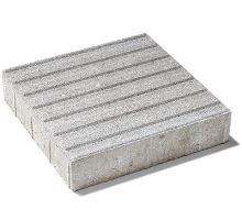 Betonová dlažba pro nevidomé s drážkou Semmelrock (kostka) 8 x 40 x 40 cm šedá přírodní