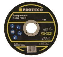 Kotouč řezný na kov a nerez, 125x1,0mm Proteco
