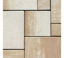 Semmelrock Citytop kombi Elegant, dlažba, 3 kameny, výška 6 cm, bíložlutokaramelová, Semmelrock