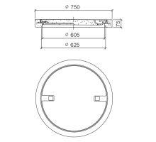 Šachtový poklop rám+víko BEGU PARK A15 75/60,5x7,5 cm Best