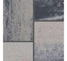 Semmelrock Citytop Grande kombi Protect, dlažba, výška 6 cm, 3 kameny, bíločerná