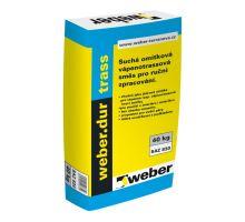 weber.dur trass, 40kg - ruční vápeno-cementová jádrová omítka z trassového vápna, pro exteriér/interiér, tl. vrstvy 20-30mm