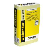 weber.dur štuk UNI, 25kg - vnitřní štuková omítka, zrno 0,6mm, tl. vrstvy do 5mm