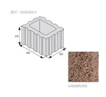 Betonová svahová tvárnice Best Kaskada II 25 x 40 x 30 cm karamel