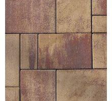 Betonová skladebná dlažba Semmelrock Citytop Elegant kombi 6 cm triomix podzim (skladba 3 kameny)