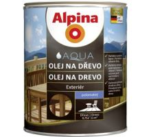 Caparol Alpina olej na dřevo polotmavý