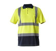 Tričko reflexní pracovní POLO krátký rukáv Lahti Pro žluté L