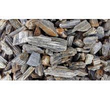 Zkamenělé dřevo drcené, 32-63mm, 25kg, karamelově stříbrné