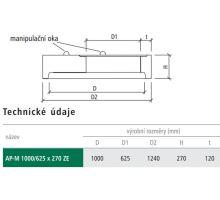 Přechodová deska kanalizační AP-M 100/62,5x27x12 cm ZE BEST