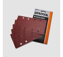 Papír brusný výsek 93x185mm, P80, suchý zip (5ks/bal), XTline